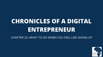 CHRONICLES OF A DIGITAL ENTREPRENEUR CHAPTER 23