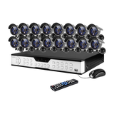 16 Channel DVR Black CCD Security Camera Monitoring System