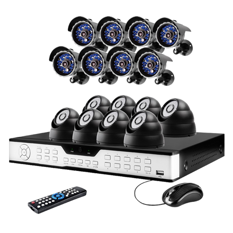 16CH H.264 DVR System with 8 Bullet+8 Dome Sony