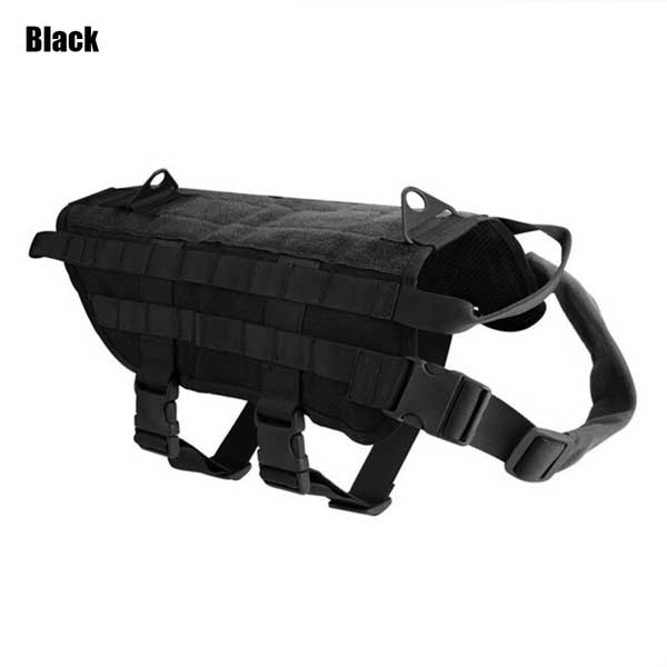 600D Nylon MOLLE Dog Training Vest Clothes Tactical Military Training Harness On For Hunting Walking Hiking Police Dog Pet Dog - HuntPost Marketplace