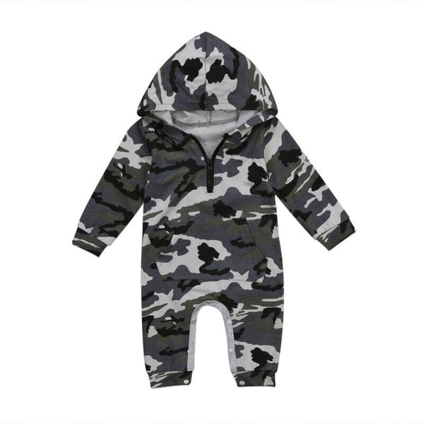 Spring Autumn Long Camo Romper Long Sleeve Hooded Baby Boys  Jumpsuit Newborn Infant Toddler Warm Sleepwear Clothes Outfit - HuntPost Marketplace