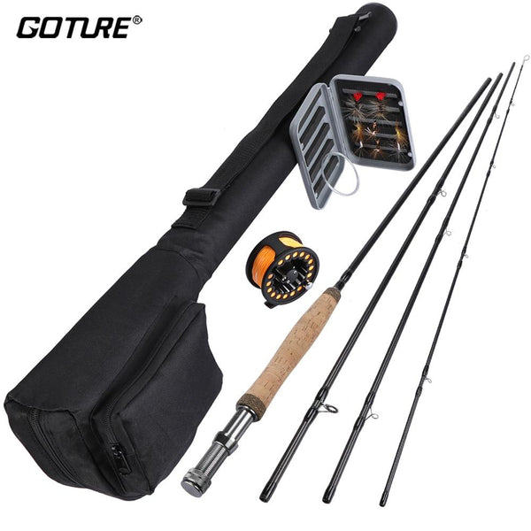 Goture 5/6 Fly Fishing Rod Set 2.7m Carbon Fiber Fishing Rod, Aluminum Fly Fishing Reel,Dry Flies Tapered Leader For Fishing - HuntPost Marketplace