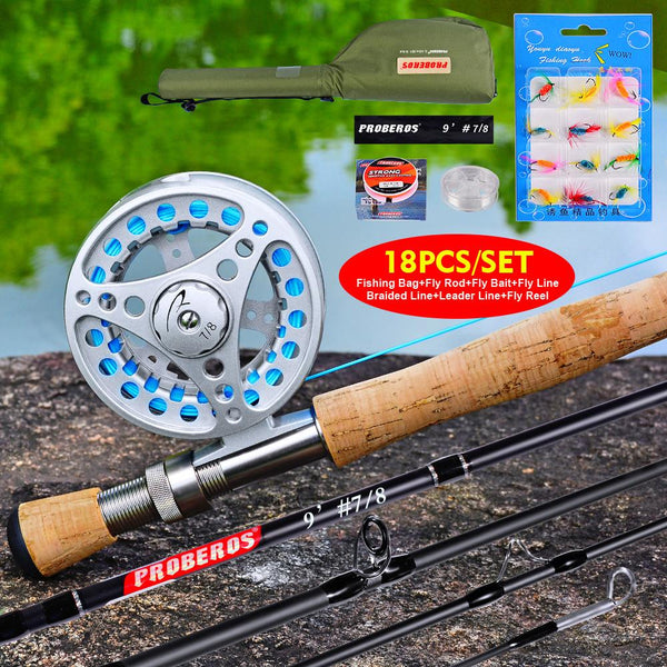 1set Fishing Line Fly Reel + New Fishing Equipped Fishing Rod Fishing Tackle Combo Full Kit + Set With Soft Lure Set With Bag - HuntPost Marketplace