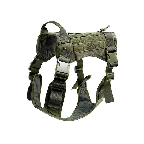 Tactical Service Dog Vest Breathable military dog clothes K9 harness adjustable size Training Hunting Molle Dog tactical Harness - HuntPost Marketplace