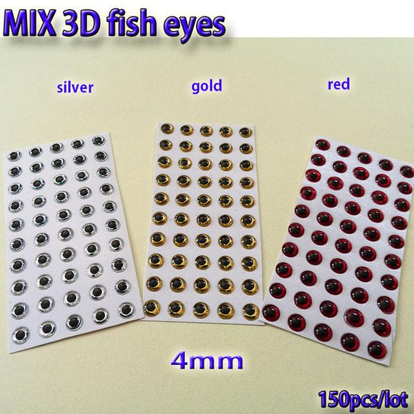 2019MIX fishing lure eyes fly fishing fish eyes fly tying material ,lure baits making silver+gold+red mix toatl 150pcs/lot - HuntPost Marketplace