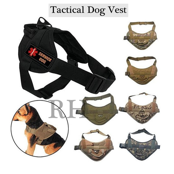 2020 New Tactical Dog Vest Hunting Military K9 Harness Training Pets Vest Water-Resistant Training Harness For Service Dog - HuntPost Marketplace