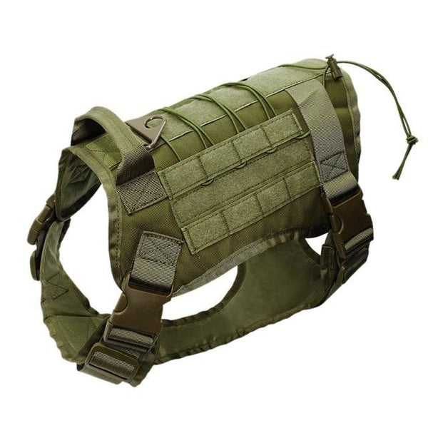 Adjustable Tactical Service Dog Vest Training Hunting Molle Nylon Water-resistan Military Patrol Dog Harness with Handle Hunting - HuntPost Marketplace