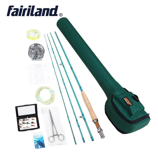 Fly Fishing set 3/4 Starter kit, 2.7m carbon fishing rod , 80mm aluminum fishing reel, fly fishing accessories with rod case bag - HuntPost Marketplace