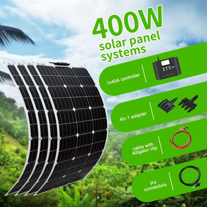 Boguang 100W solar panel 200W 300W 400W kit Panneau solaire flexible for 12V 24V battery car RV home outdoor Power charging - HuntPost Marketplace