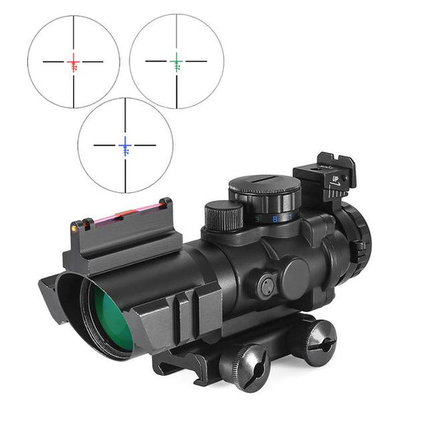 4x32 Acog Riflescope 20mm Dovetail Reflex Optics Scope Tactical Sight For Hunting Gun Rifle Airsoft Sniper Magnifier - HuntPost Marketplace