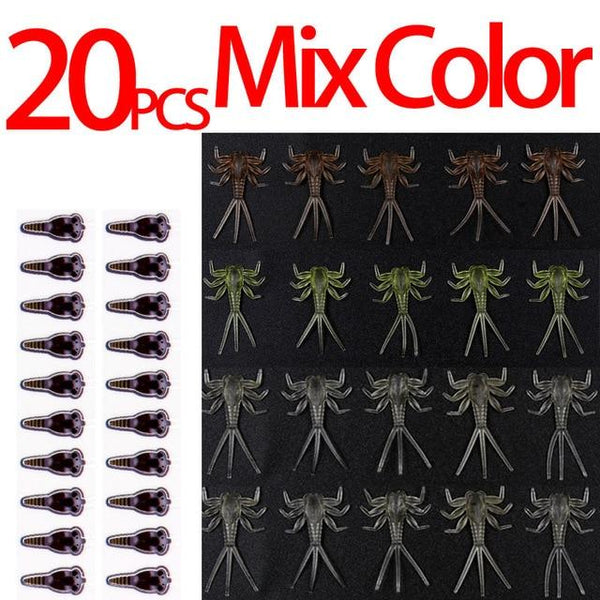 20PCS Hook Insect Bait Realistic Mayfly Nymph Fly Tying Material Mayfly Skin Trout Fly Fishing Fly Tying for Size 12 14 - HuntPost Marketplace