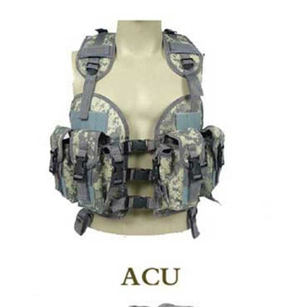 Adjustable CS Vests Camouflage Military Vests Wild Survival Adventure Vest Detachable Sleeveless Clothing Tactical Hunting Vest