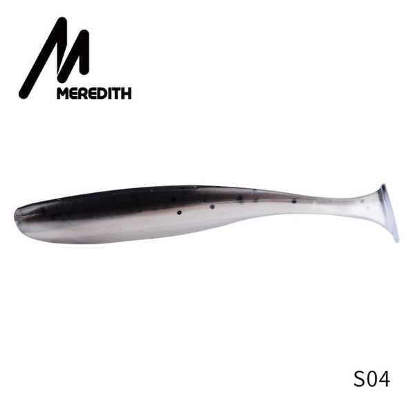 MEREDITH Easy Shiner Soft Lures 50mm 75mm 100mm 130mm Baits Fishing Lure Leurre Shad Double Color Silicone Bait T Tail Wobblers