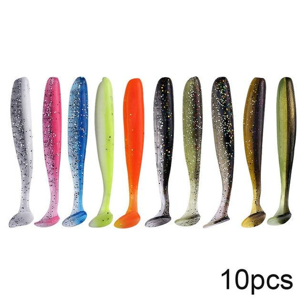 QXO 10pcs/Lot Soft Lures Silicone Bait 7cm 2g Goods For Fishing Sea Fishing Pva Swimbait Wobblers Artificial Tackle - HuntPost Marketplace