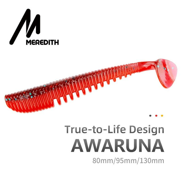MEREDITH Awaruna Fishing Lures 8cm 9.5cm 13cm Artificial Baits Wobblers Soft Lures Shad Carp Silicone Fishing Soft Baits Tackle - HuntPost Marketplace