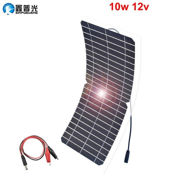 xinpuguang flexible solar panel 12v/18v 5w 10w 20w 30w kit home system charger DC usb for 5v Phone car RV Battery Hiking camping - HuntPost Marketplace