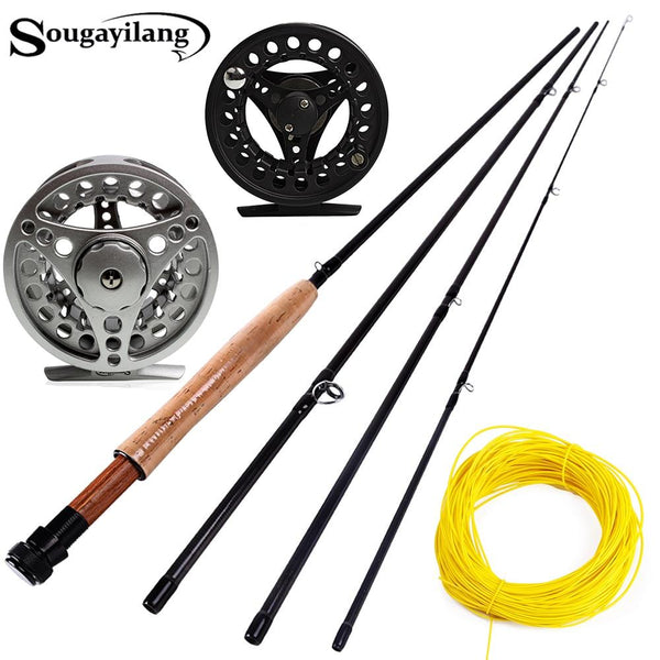 Sougayialng #5/6 Fly Fishing Rod Set 2.7M Fly Rod and Fly Reel Combo with Fishing Lure Line Box Set Fishing Rod Tackle Pesca - HuntPost Marketplace