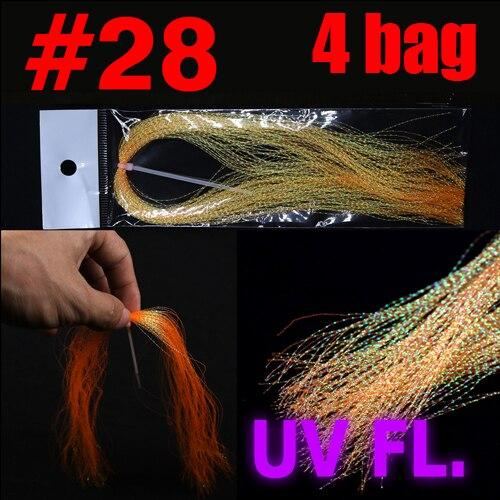 Bimoo 4 Packs Twisted Flashabou Holographic Tinsel Fly Fishing Tying Crystal Flash for Jig Hook Lure Making Material - HuntPost Marketplace