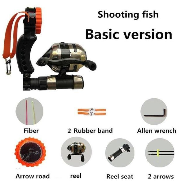 Shooting Fish Bow Arrow Full Set Reel Accessories Tools Parts Fishing Slingshot Archery Target Safety Hunting Catapult Sling Kit - HuntPost Marketplace