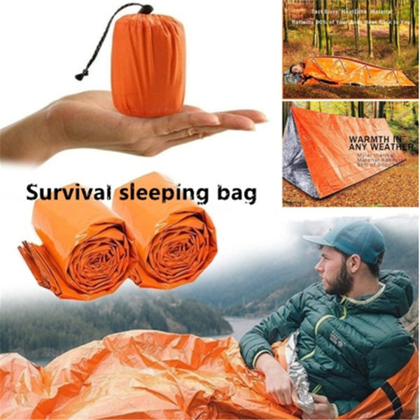 Outdoor Life Safety Emergency Sleeping Bag Thermal Keep Warm Waterproof Mylar First Aid Emergency Blanket Camping Survival Gear