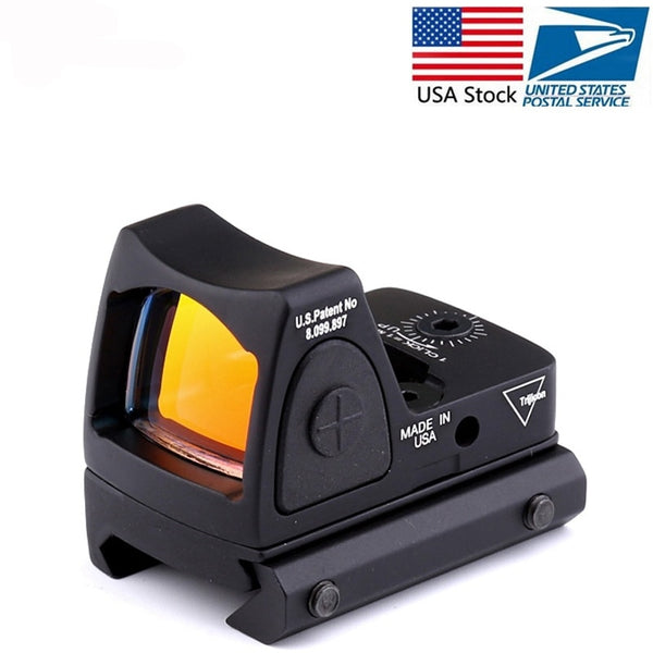 Mini RMR Red Dot Sight Collimator Glock / Shot gun Reflex Sight Scope fit 20mm Weaver Rail For Airsoft / Hunting Rifle