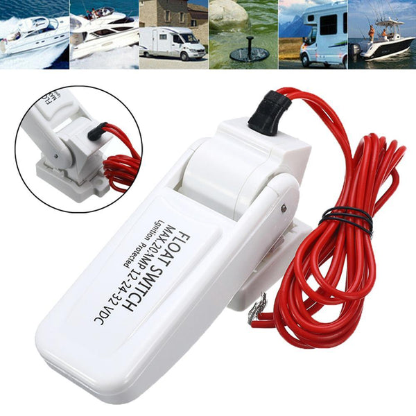 1Pc 12/24/32V Bilge Pump Automatic Control Switch for Electric Marine Boat RV Campers Submersible Water Pumps Float Switches - HuntPost Marketplace