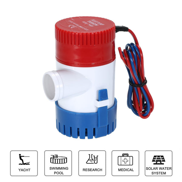 12V Electric Pump 1100GPH Marine Bilge Pump Submersible Boat Water Pump Bilge Pump - HuntPost Marketplace