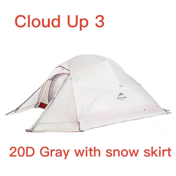 Naturehike Cloud Up Series Ultralight Camping Tent Waterproof Outdoor Hiking Tent 20D Nylon Backpacking Tent With Free Mat