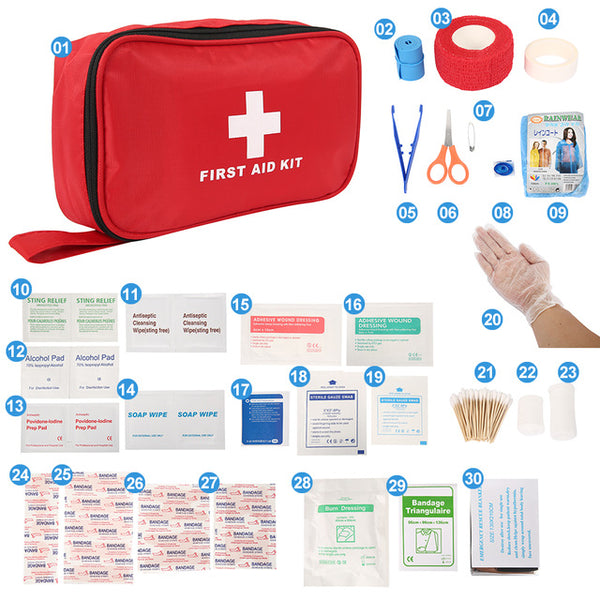 Portable 100 180 Pcs Emergency Survival Set First Aid Kit for Medicines Outdoor Camping Hiking Medical Bag Emergency Handbag