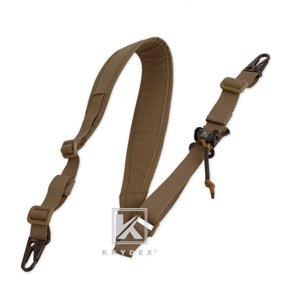 "KRYDEX PC Style Rifle Sling Strap Tactical Modular Removable 2 Point / 1 Point 2.25"" Padded For Combat Shooting Hunting Rifle CB"