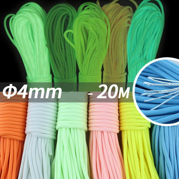 20 Meters Survival Paracord Luminous Rope Camp Glow Paracord 550LB 7 Strands Lanyard Ropes Outdoor Camping Ropes Tools 8 - HuntPost Marketplace