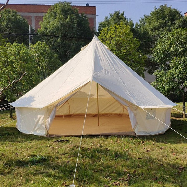 Outdoor Waterproof Diameter 3/4/5/6m 900D Oxford Bell Tent With Zipped And Detachable Groundsheet Of Luxury Camping Tent