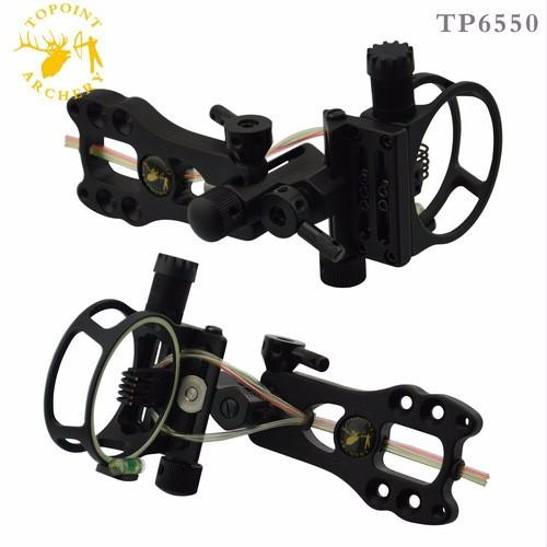 "TP6550 Toppoint Archery Hunting Compound Bow Sight 5 pin Bow Sight 0.019"",Micro Adjustable,Tool less design - HuntPost Marketplace"