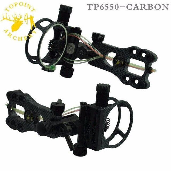 TP6550 Toppoint Archery Hunting Compound Bow Sight 5 pin Bow Sight 0.019