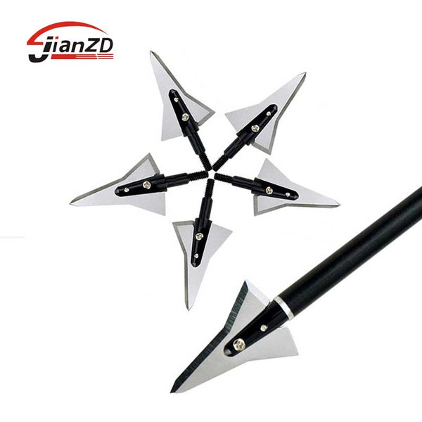 12/PCs Archery Broadhead Crossbow Arrowheads Screwed Points 110 Grain 1.2