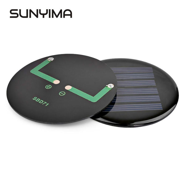 SUNYIMA  2pcs Mini Portable Solar Panels Painel D71mm 3V 80mA For DIY kits Solar Charger Panel Paneles - HuntPost Marketplace