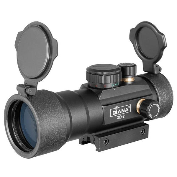 DIANA 1X40 Red Green Dot Sight Scope Tactical Optics Riflescope Fit 11/20mm Rail Rifle Scopes Hunting - HuntPost Marketplace