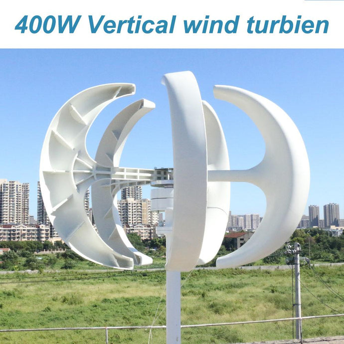 WXFLYT cheap vertical wind turbine permanent magnet generator three phase 400W 12V24V vertical axis windmill with controlle - HuntPost Marketplace