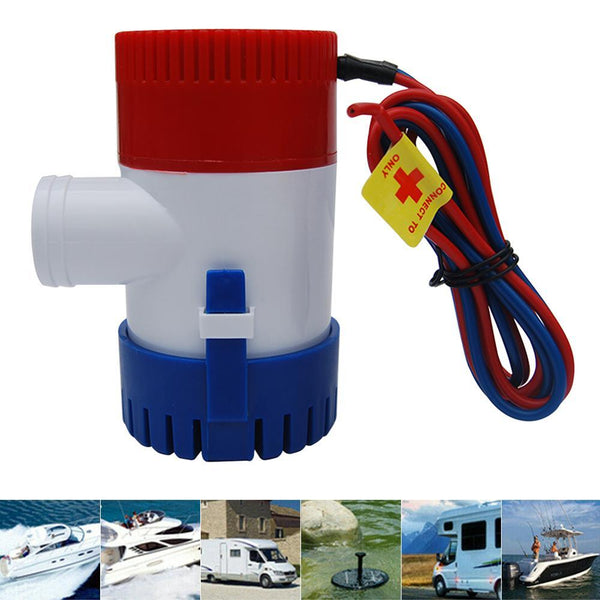 Electric Marine Submersible Bilge Sump Water Pump 1100GPH 12V With Switch For Boat Submersible Water Pump - HuntPost Marketplace