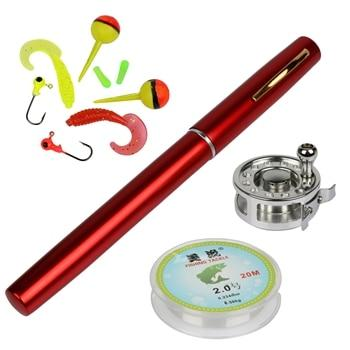 Mini Pocket Ice Fly Fishing Reel and Rod Combos Set Aluminum Alloy Pen Fishing Pole Saltwater Freshwater Extended 1.34m - HuntPost Marketplace