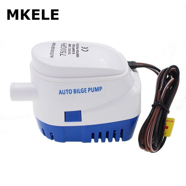 DC 12V 24V 750GPH Automatic Water Bilge Pump For Boat Submersible auto pump with Float Switch  Marine / Bait Tank / Fish - HuntPost Marketplace