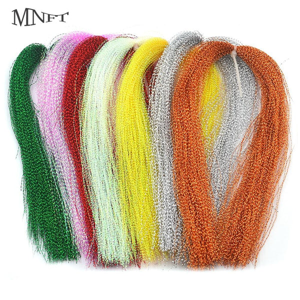 MNFT 3 Packs Flashabou Holographic Tinsel Fly Fishing Tying Crystal Flash String Jig Hook Lure Making Twisted Strands Material - HuntPost Marketplace