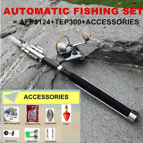 2.1 & 2.4 & 2.7 & 3.0m Automatic Spinning Fly Fishing Rod Combo Set Pole With Reel & Accessories For Lake Pool River Sea Fishing - HuntPost Marketplace