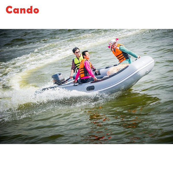 CANDO Inflatable Boat 4 To 6 People Assault Boat Hard Bottom High-speed Boat Small Yacht Fishing Ship Top Quality Upgraded Speed - HuntPost Marketplace