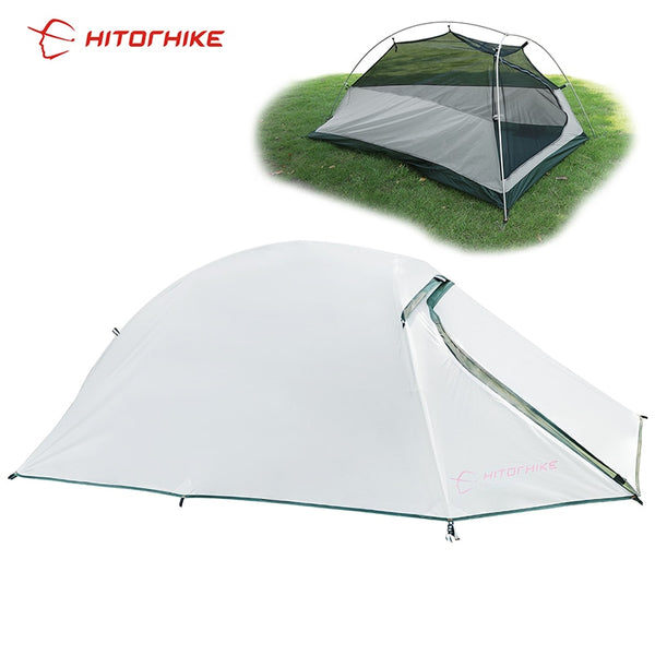 Hitorhike Tent 1500g Silicon Coating l Ultralight 3 Seasons UV-resistan 1 Person Camping Hiking Tent Easy Tent  Carry Bag Travel