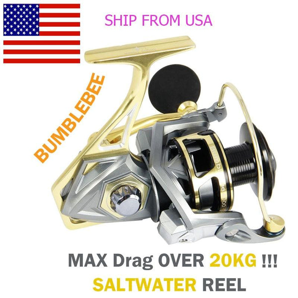 Angler Dream Saltwater Sea Fishing Spinning Reels 5.2:1 Ratio Max Drag 20kg CNC Metal  Spinning Fishing Reels Size 2500-5000 - HuntPost Marketplace