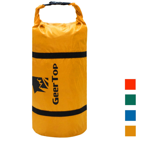 GeerTop Adjustable Compression Tent Bag Polyester Lightweight Waterproof Replacement Storage Sack Duffel Bag Camping Gear Yellow