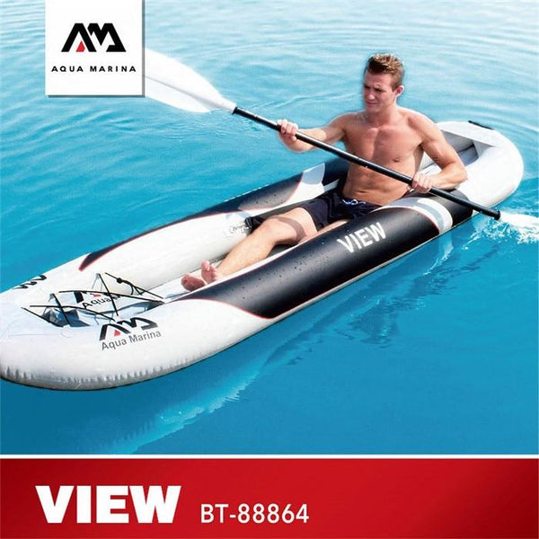 AQUA MARINA New Inflatable Boat VIEW Kayak Transparent Viewport Sport Kayak Canoeing With High Back Seat 300*80cm 400*80cm - HuntPost Marketplace