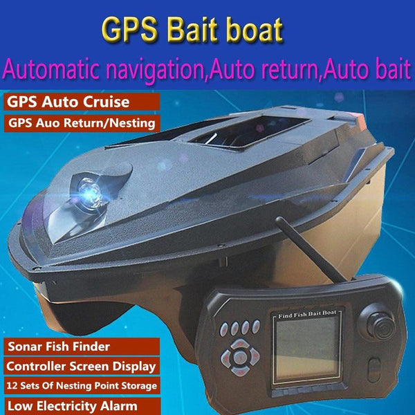 GPS Auto Cruise RC Bait Boat 380E GPS Navigation Dual Body Remote Control RC Intelligent Nesting Fishing Boat With 12 Nest Point - HuntPost Marketplace