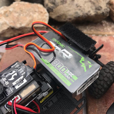 (2 packs) Ovonic 50C 7.4V 1000mAh 2S Lipo Battery Pack with JST Plug for RC helicopter